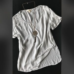 🎉3/$25 CLOTH & STONE Light Gray Scoop Neck Tee